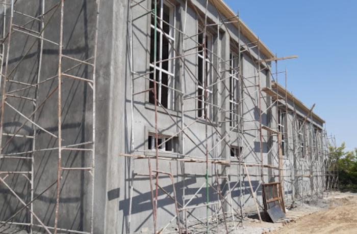 Qazaxda yeni məktəb binasının tikintisi davam etdirilir - VİDEO