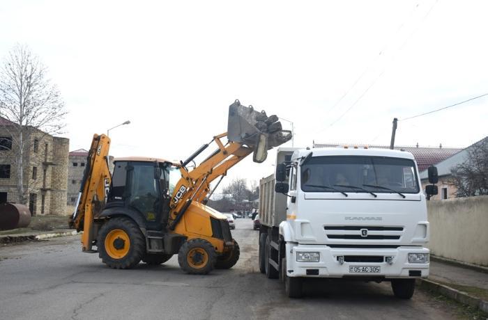 Ağstafanın Dağ Kəsəmən kəndində abadlıq işlərinə başlanılıb - FOTOLAR